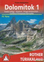 Franz Hauleitner - Dolomitok 1. - Gader-völgy - Sexteni-, Pragsi-Dolomitok, Cortina d'Ampezzo környéke