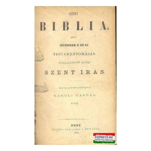 Szent Biblia, azaz: Istennek Ó és Új Testamentomában foglaltatott egész szent írás (1866)