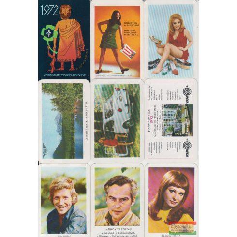 Kártyanaptárak - 1972. évi
