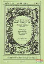 Hausner Gábor szerk. - Hadtörténelmi Közlemények 124. évfolyam 2011. december 4. szám