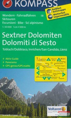 Sextener Dolomitok turistatérkép 1:50000