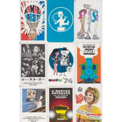 Kártyanaptárak - 1974. évi
