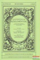 Csákváry Ferenc szerk. - Hadtörténelmi Közlemények 122. évfolyam 2009. december 4. szám
