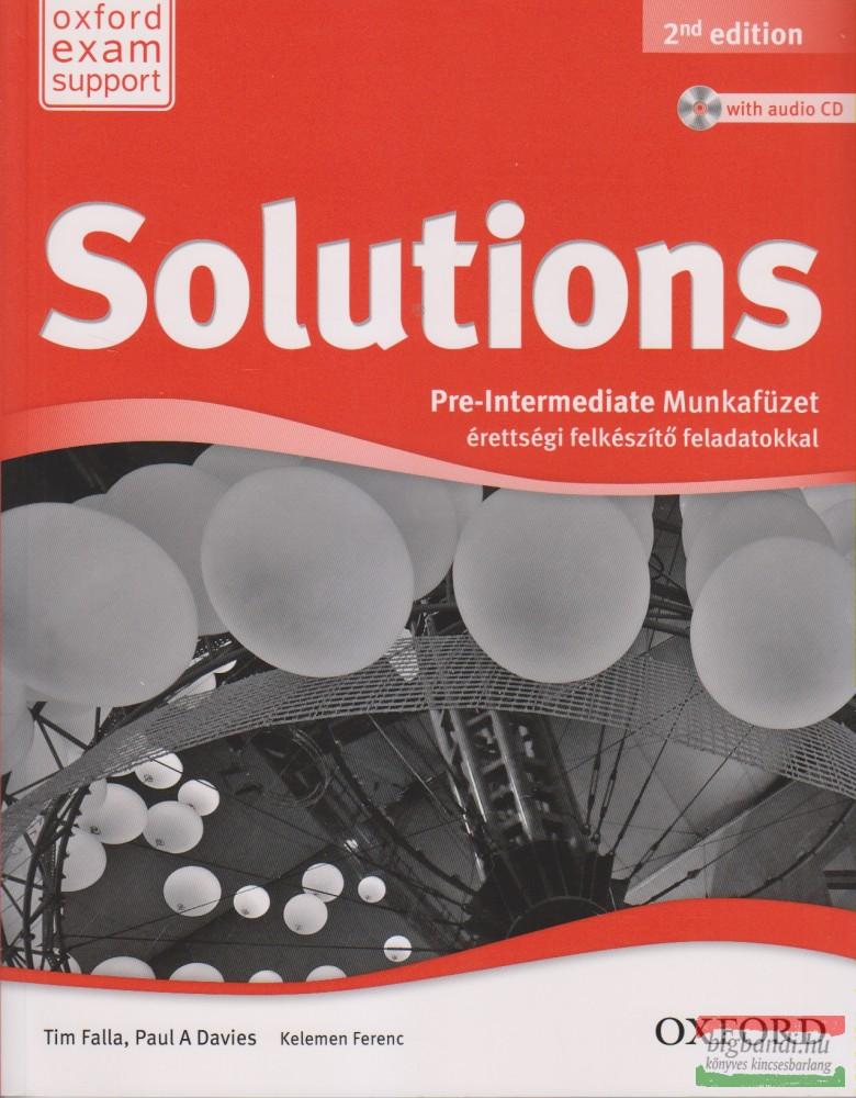 Solutions Pre-intermediate Munkafüzet - Érettségi felkészítő feladatokkal Second Edition