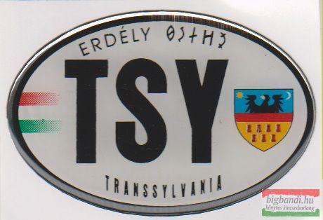 Autós matrica - Transsylvania, Erdély címerrel