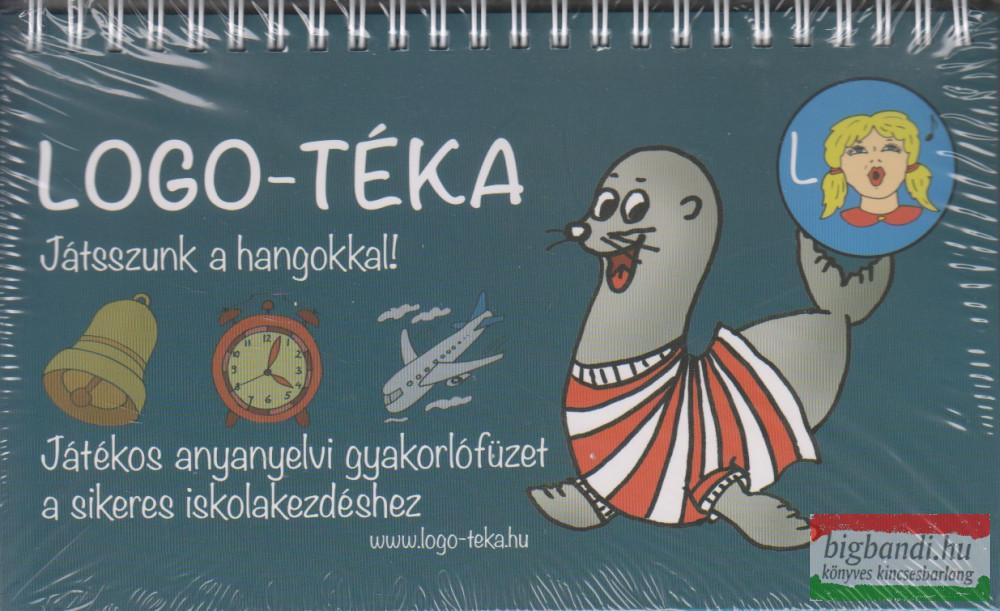 Logo-téka Játsszunk a hangokkal! Játékos anyanyelvi gyakorlófüzet iskolakezdéshez kék