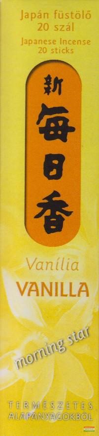 Vanília – Morning Star 20 - japán füstölő