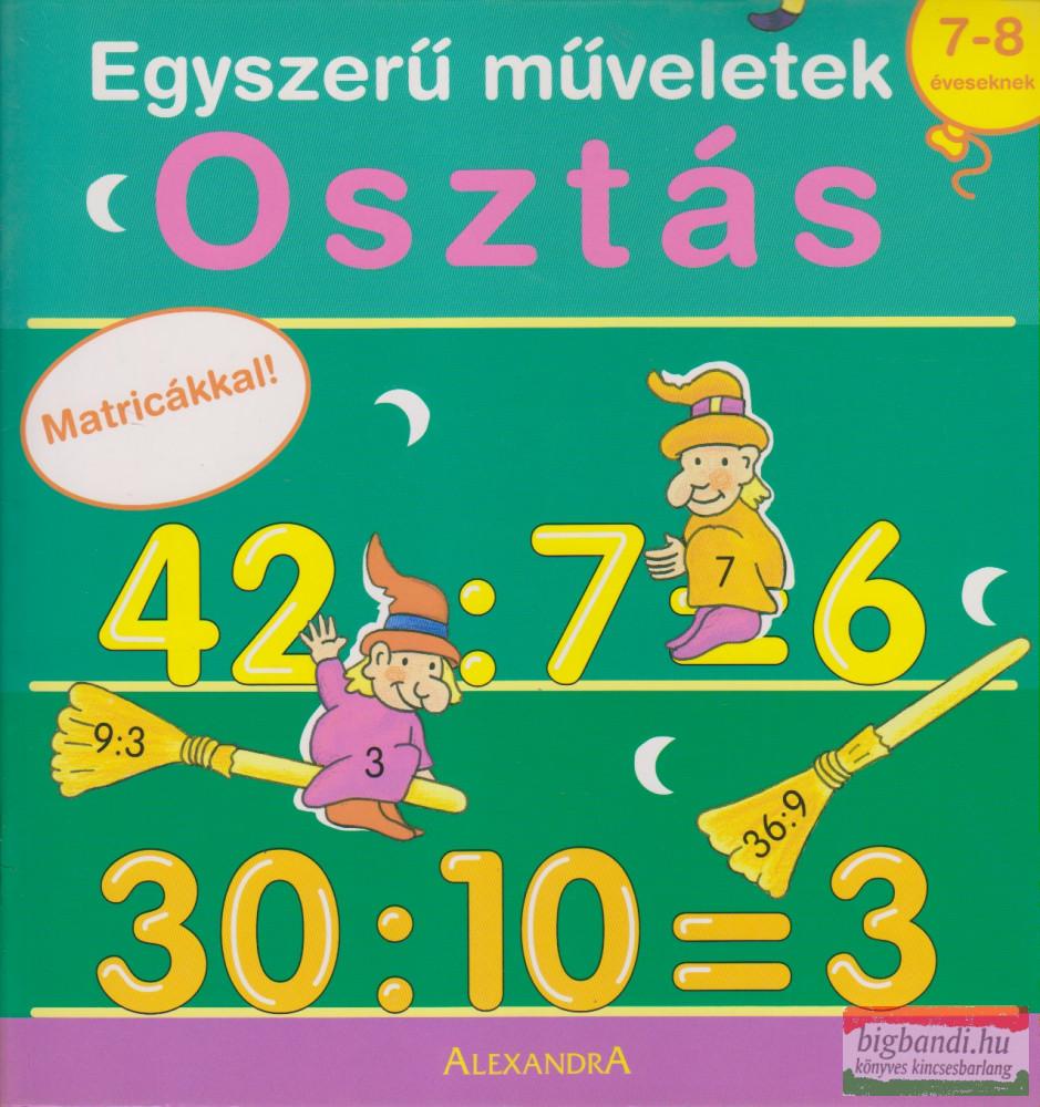 Osztás 7-8 éveseknek - Matricákkal